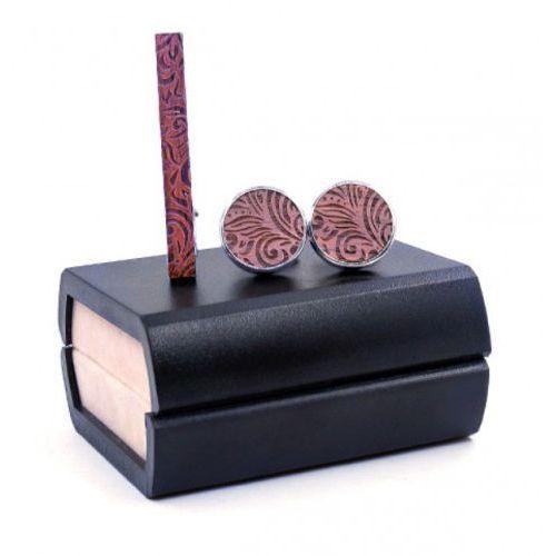 Komplet spinek drewnianych do mankietów i krawata z11 marki Niwatch