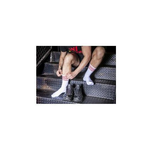 Boxer (es) Bxr tennis socks white with red stripe