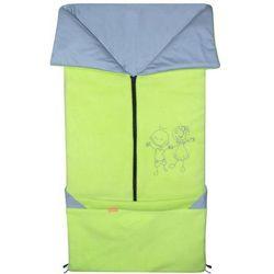Emitex śpiworek do wózka/fusak 2w1 fanda, limonkowy/jasnoszary