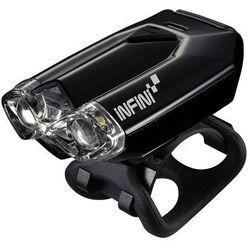 lava 260 w (usb) - lampa przednia, czarna - czarny marki Infini