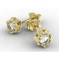 Węc - twój jubiler Kolczyk w formie konwalii z diamentem apk-4010z