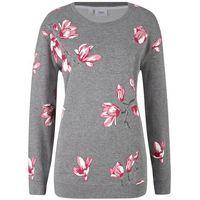 Bluza z kwiatowym nadrukiem bonprix szary melanż w kwiaty