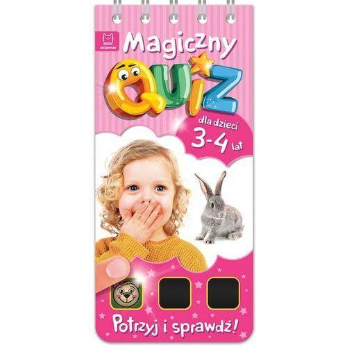 Magiczny quiz dla dzieci 3-4 lata Różowy, oprawa miękka