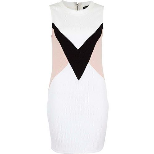 Sukienka BLEND SHE - Strandi Dress Snow White (20006), kolor czarny