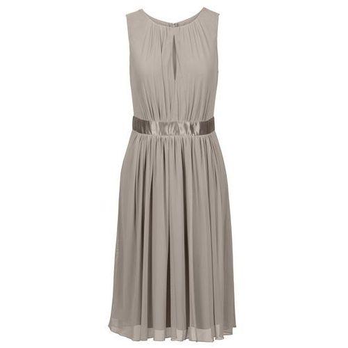 Sukienka beżowo-szary Bonprix