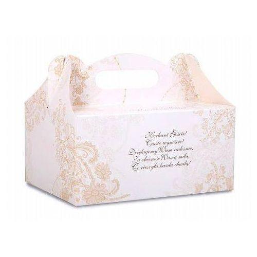 Ozdobne pudełko na ciasto weselne 1sztuka