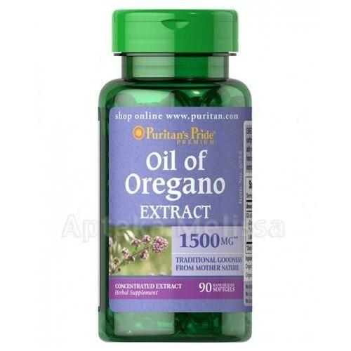 Puritan's pride Olej z oregano oil of oregano extract 1500 mg/90 kaps., puritans pride