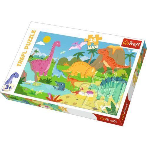 Trefl Puzzle 24 maxi w świecie dinozaurów (5900511142846)