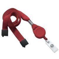 Szeroka 16mm bezpieczna smycz na szyję + brelok typu jojo (Czerwony) - Czerwony