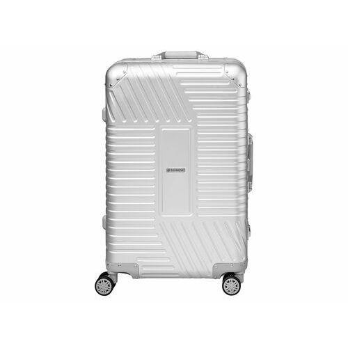 TOPMOVE® Walizka aluminiowa srebrna 68 l srebrna (4056232768580)