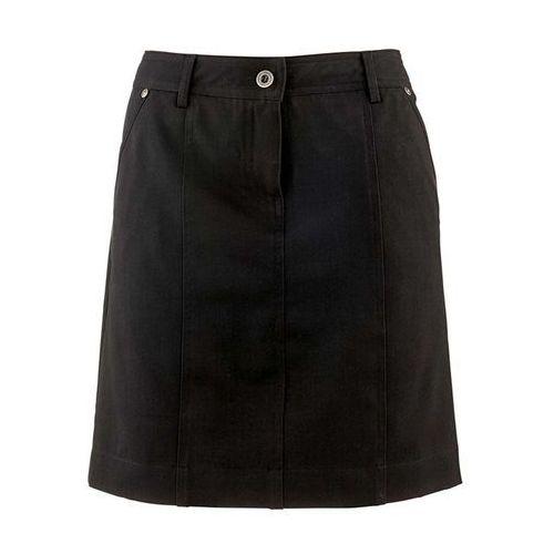 Spódnica ze stretchem bonprix czarny, kolor czarny