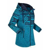 Bluza rozpinana z polaru bonprix ciemnoniebiesko-ciemnoturkusowy