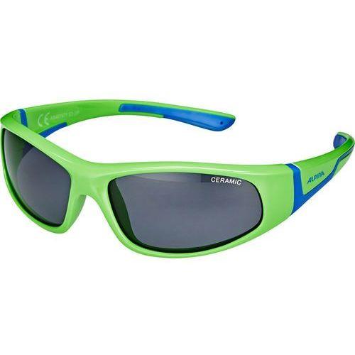 Alpina Flexxy Okulary rowerowe Dzieci, neon green-blue 2019 Okulary przeciwsłoneczne dla dzieci (4003692237651)