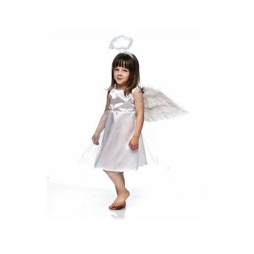 Party deco Kostium aniołek ze skrzydełkami i aureolką - s - 110/116 cm