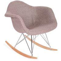Fotel bujany - - plush rar zebra beżowa - styl skandynawski marki King home