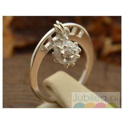 HECTOR - srebrny pierścionek z cyrkoniami