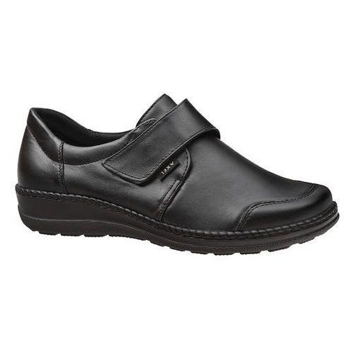 Półbuty na rzepy comfort 1705 czarne k bardzo szerokie na haluksy marki Axel