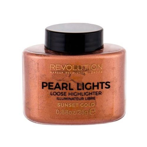 MAKEUP REVOLUTION - PEARL LIGHTS - LOOSE HIGHLIGHTER - Sypki rozświetlacz - SUNSET GOLD, MUR-5173 - Bardzo popularne