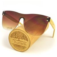 Drewniane okulary przeciwsłoneczne Niwatch Pavo Brown