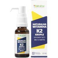 Krople K2 MK - 7 Z NATTO krople naturalne witaminy dozownikiem - 20ml MyVita