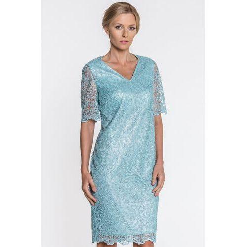 ccf0516615a425 Zobacz ofertę Zielona sukienka z koronki - Vito Vergelis, 1 rozmiar