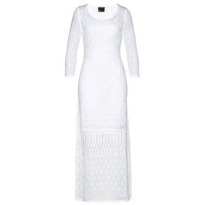 0dc75fe6c Suknie i sukienki Długość rękawa: długi rękaw, Kolor: biały, Wzór ...