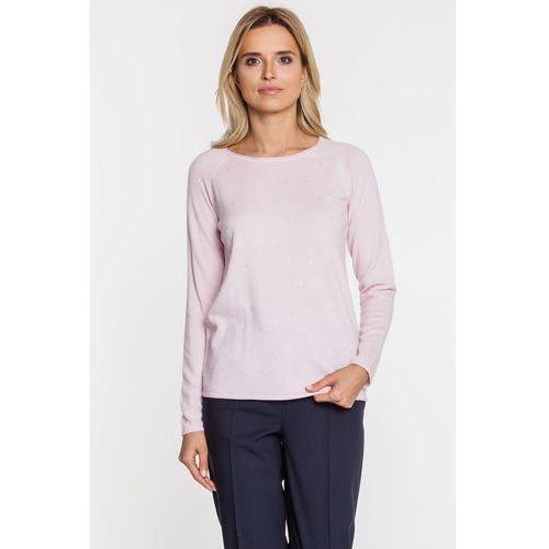 Jedwabna bluzka ozdobiona kryształkami - Patrizia Aryton, 1 rozmiar