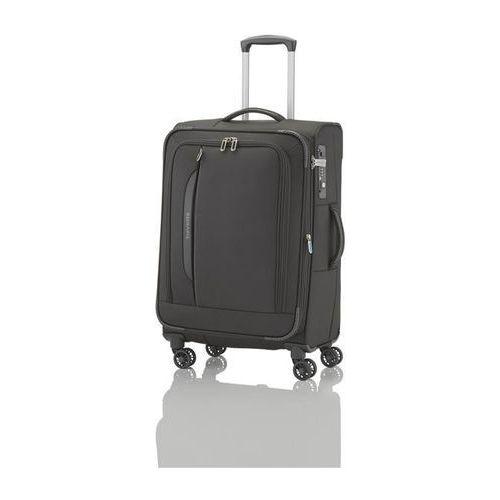 crosslite walizka średnia 69/80l schwarz 4-koła - czarny marki Travelite