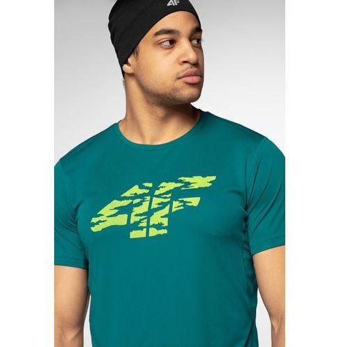 7648fdd11872f Koszulka do biegania męska TSMF204 - morska zieleń, kolor zielony