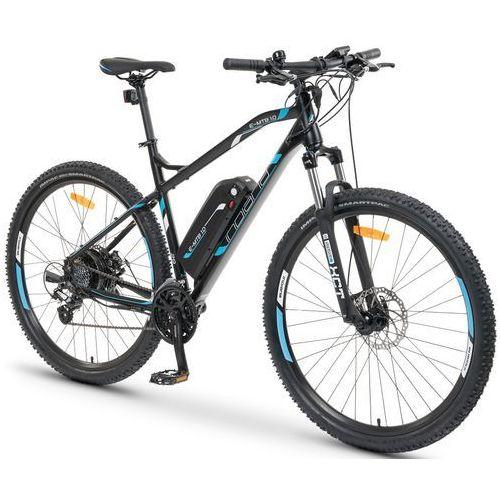 Rower elektryczny e-mtb 1.0 m19 czarno-niebieski marki Indiana