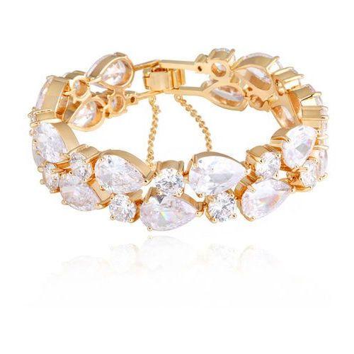 Br599/871 bransoletka ślubna żółte złoto z cyrkoniami marki Mak-biżuteria