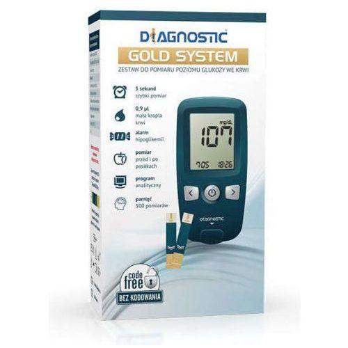 Glukometr diagnostic gold system zestaw do pomiaru glukozy we krwi x 1 sztuka marki Diagnosis