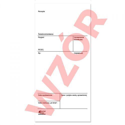 Recepty na materiały refundowane (nowy druk) 100 szt.