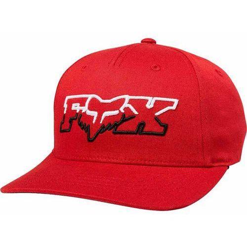 Fox Czapka z daszkiem - youth duelhead flexfit hat cardinal (465) rozmiar: os