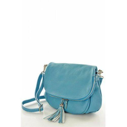ab3797a407847 Listonoszka damska skórzana AGNESE ELEGANCE L27O Blue, kolor niebieski -  galeria produktu