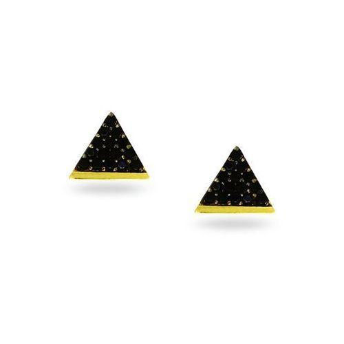 Kolczyki złote trójkąty