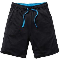 Spodnie sportowe funkcyjne, oddychające i szybko schnące bonprix czarno-niebieski capri