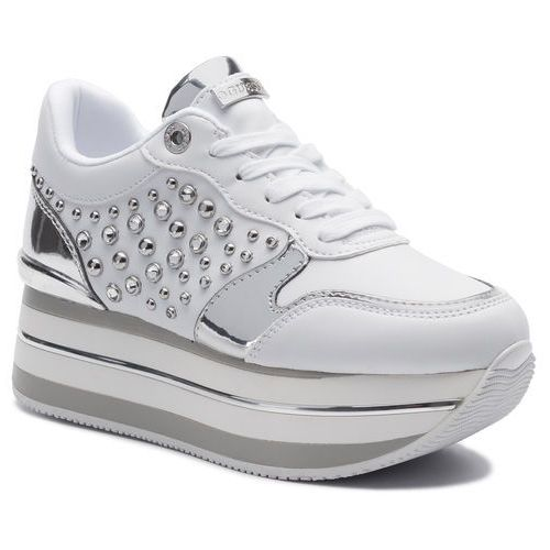 Sneakersy - humbull fl7hum ele12 white, Guess, 35-41