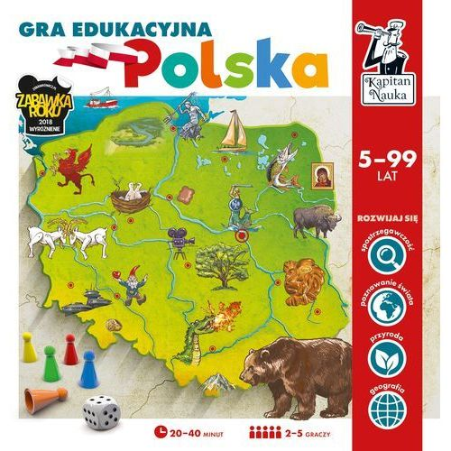 Kapitan Nauka Gra edukacyjna Polska - Praca zbiorowa (5907608646782)