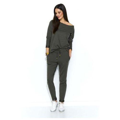 Khaki stylowy dresowy komplet damski, 1 rozmiar