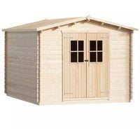 vidaXL Domek gospodarczy, drewno 34 mm, 4x3 m (8718475562696)