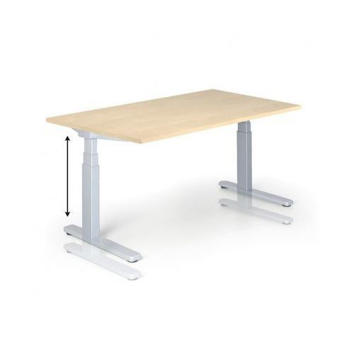 Stół z regulacją wysokości, 725-1075 mm, elektryczny, 1600 x 800 mm, brzoza