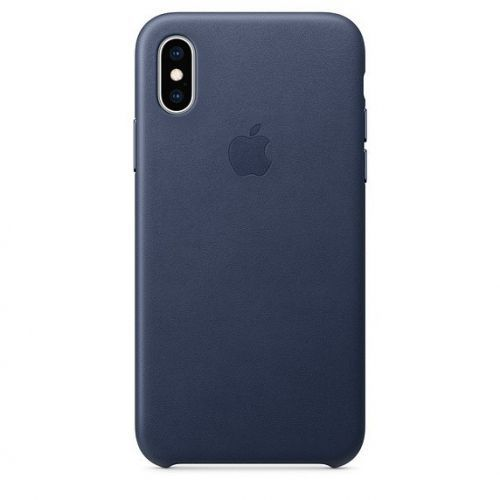 Apple etui skórzane iphone xs - nocny błękit (0190198763389)