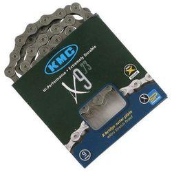 Łańcuch 9-rzędowy x-9 116-ogniw srebrny z zapinką box marki Kmc