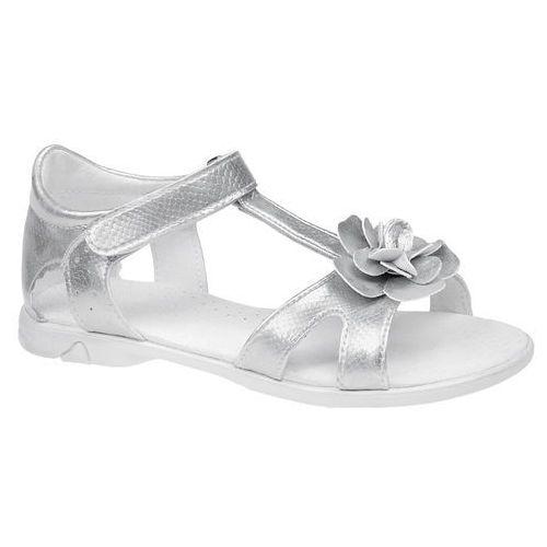 Sandałki dla dziewczynki KORNECKI 4319 Srebrne - Srebrny, kolor szary
