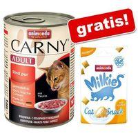 Animonda Carny, 6 x 400 g + Animonda Milkies Harmony - Anti Hairball, 30 g gratis! - Wołowina, indyk i królik (4017721737258)