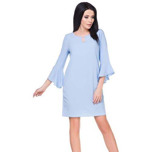d13917b142 Zobacz ofertę Tessita Błękitna sukienka z rozkloszowanymi rękawami 3 4