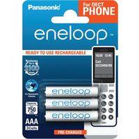 Akumulatorki  eneloop r03 aaa 800mah for dect bk-4mcce/3de (blister) 3 sztuki marki Panasonic