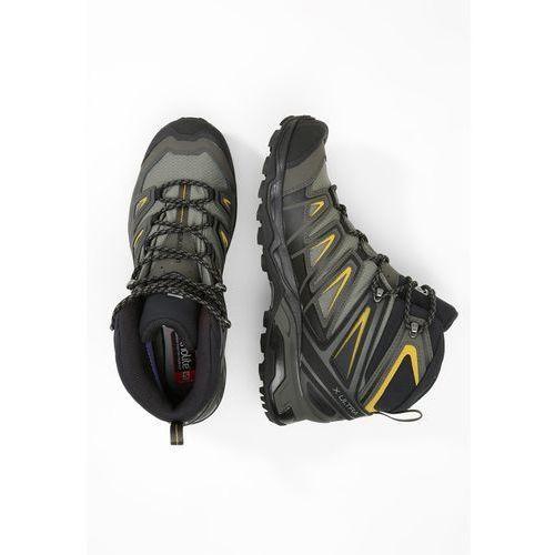 Salomon X ULTRA 3 MID GTX Buty trekkingowe castor grayblackgreen sulphur Zalando