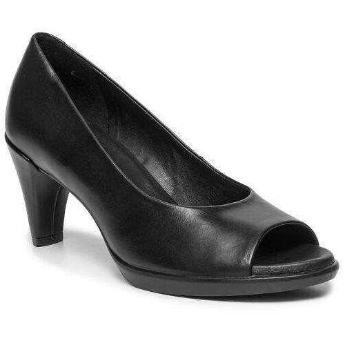 Półbuty ECCO - Shape 55 Peep Toe Sleek 26830301001 Black, w 5 rozmiarach